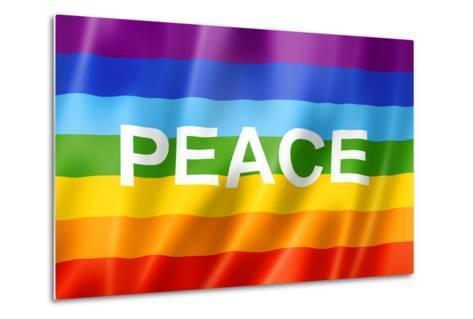 Rainbow Peace Flag-daboost-Metal Print