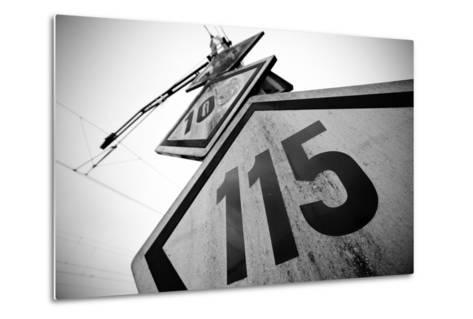 Speed Limit Railway Signpost-ABB Photo-Metal Print