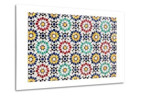 Colorful Mosaic Decoration-p.lange-Metal Print