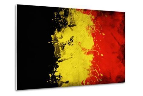 Belgium Flag-igor stevanovic-Metal Print