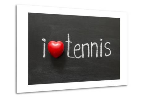 Love Tennis-Yury Zap-Metal Print