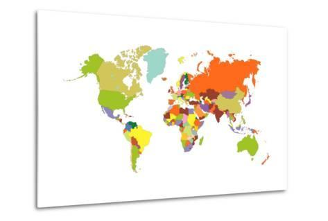 World Map-tony4urban-Metal Print