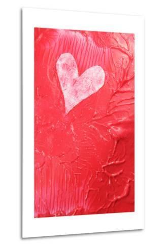Abstract Heart-Lucian Milasan-Metal Print