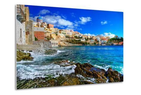 Beautiful Greek Islands Series - Syros-Maugli-l-Metal Print