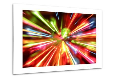 Multiple Lights Blur Background-STILLFX-Metal Print