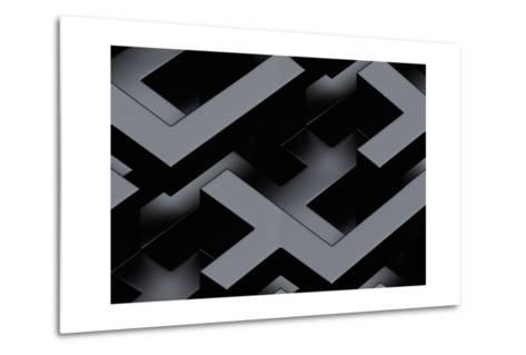 Seamless Metallic 3D Background-monarx3d-Metal Print