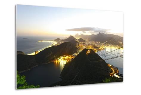 Night Panoramic View Of Rio De Janeiro-luiz rocha-Metal Print
