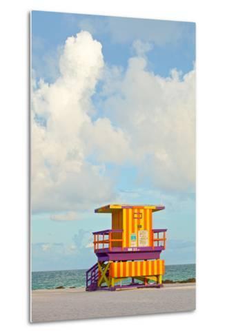 Miami Beach Florida Lifeguard House-Fotomak-Metal Print