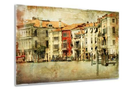 Venice, Artwork In Painting Style-Maugli-l-Metal Print