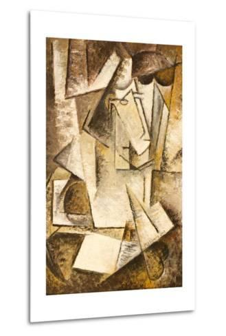 Abstract Cubism Oil Painting- mullrich-Metal Print
