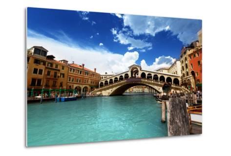 Rialto Bridge In Venice, Italy-Iakov Kalinin-Metal Print