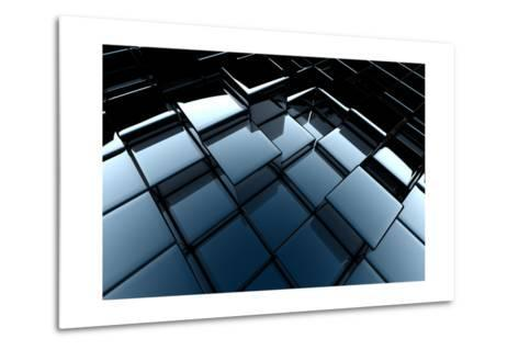 3D Abstract Background-chrisroll-Metal Print