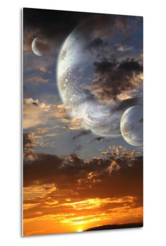 Sunset In Alien Planet-frenta-Metal Print