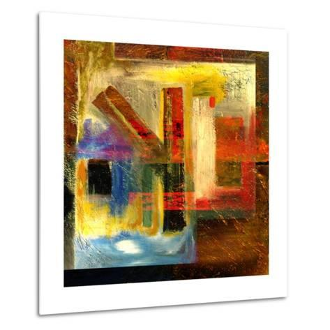 Abstract Oil Painting-Rinderart-Metal Print