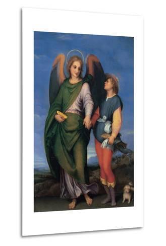 Archangel Raphael with Tobias-Andrea del Sarto-Metal Print