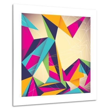 Colorful Illustrated Abstraction-Rashomon-Metal Print