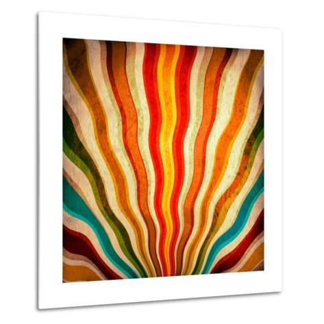 Multicolor Sunbeams Grunge Background. A Vintage Poster-molodec-Metal Print
