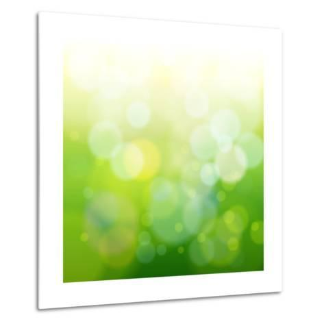 Green Bokeh Abstract Light--Vladimir--Metal Print