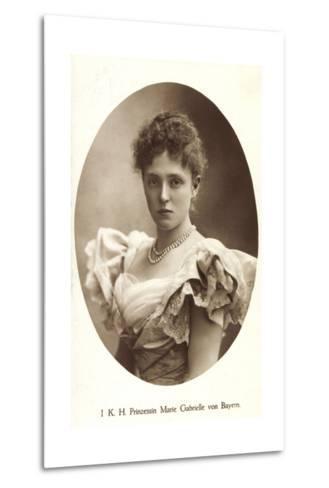 Ak I.K.H. Prinzessin Rupprecht Von Bayern Wittelsbach, Marie Gabrielle--Metal Print