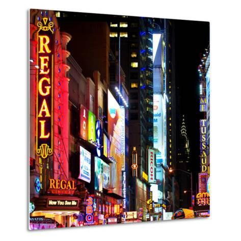 Square View, Urban Scene by Night at Times Square, Buildings by Night, Manhattan, New York, US, USA-Philippe Hugonnard-Metal Print