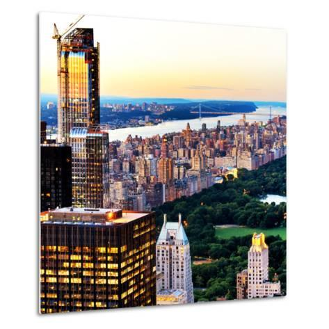 Central Park with Skyscrapers and Upper West Side Manhattan View at Sunset, New York-Philippe Hugonnard-Metal Print