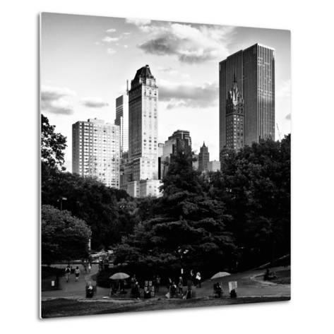 View of the Buildings around Central Park on a Summer Evening at Sunset, Manhattan, New York-Philippe Hugonnard-Metal Print
