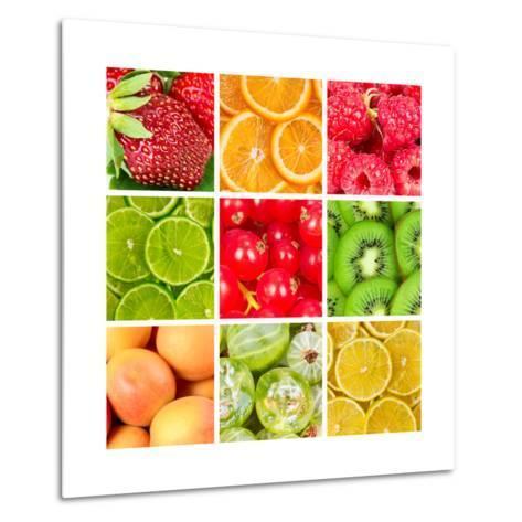 Collage Of Fresh Fruits-Natalyka-Metal Print