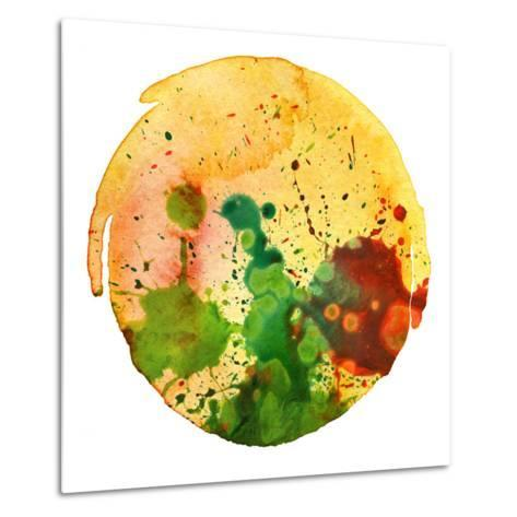 Abstract Watercolor Painting Blot Background-Rudchenko Liliia-Metal Print
