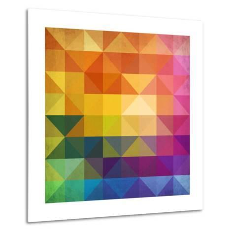 Abstract Vibrant Triangles-art_of_sun-Metal Print