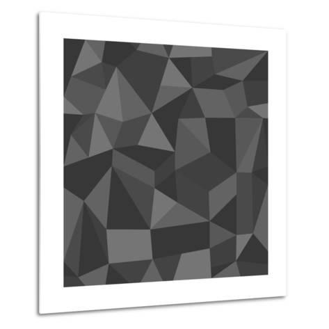 Gray Abstract Geometric Pattern-cienpies-Metal Print