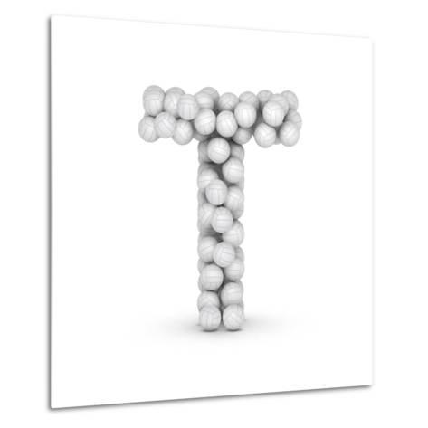 Letter T, From Voleyballs-iunewind-Metal Print