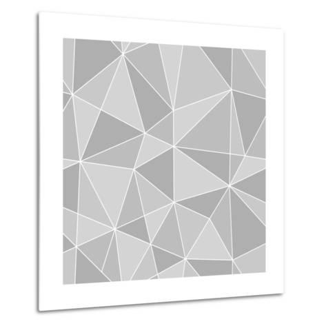 Seamless Triangles Texture, Abstract Illustration-100ker-Metal Print