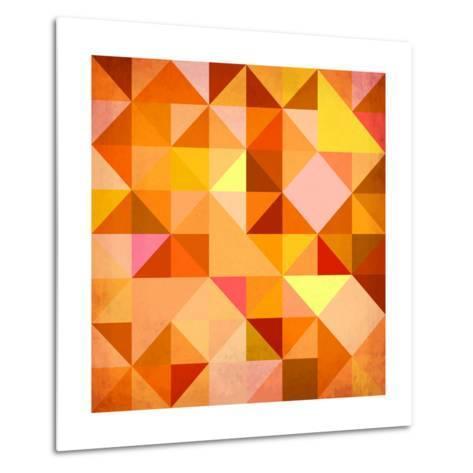 Abstract Triangles Grunge-art_of_sun-Metal Print