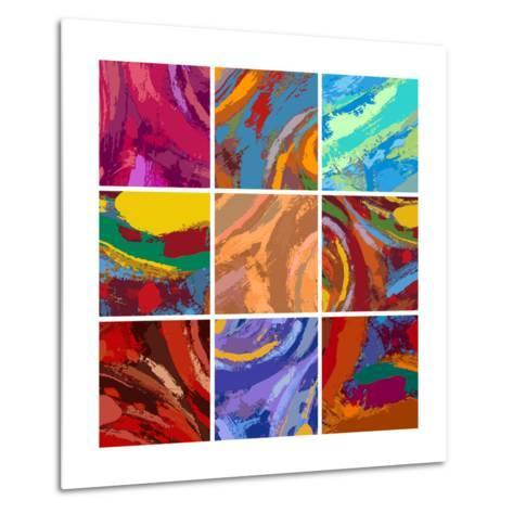 Abstract Painting Background Design Set-Igor Zakowski-Metal Print