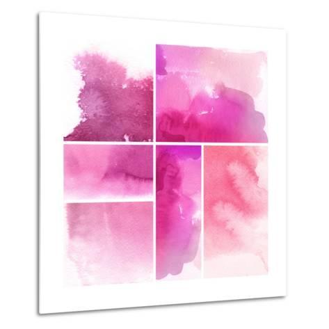 Set Of Watercolor Abstract Hand Painted Backgrounds-katritch-Metal Print