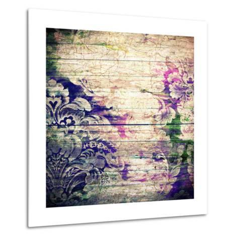 Abstract Old Background With Grunge Texture-iulias-Metal Print