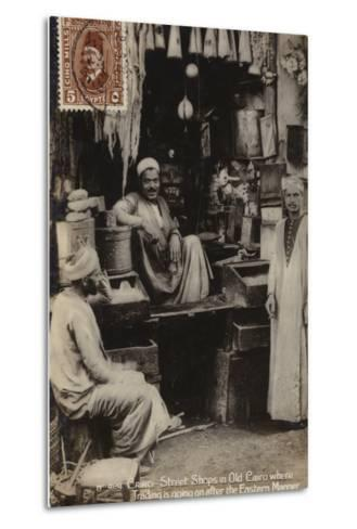 Street Shops in Old Cairo, Egypt--Metal Print