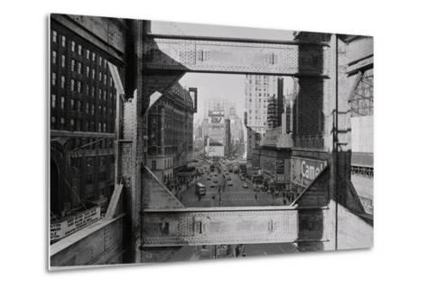 View of Steel Girders of the Old times Tower--Metal Print