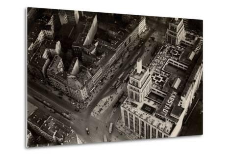 An Aerial View of Hermannplatz, Berlin Neukoelln, from 'Zeppelin-Weltfahrten'--Metal Print