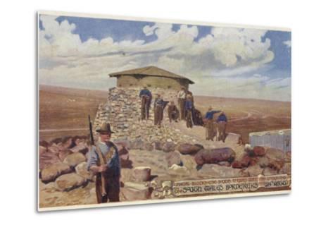 Postcard Depicting a Typical Blockhouse--Metal Print
