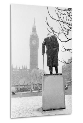 Winston Churchill by Ivor Roberts-Jones--Metal Print