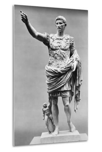 Augustus of Prima Porta Ancient Roman Statue--Metal Print