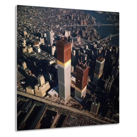 World Trade Center as Seen from the Sky--Metal Print