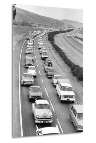 Traffic Jam due to Rolling Stones Concer--Metal Print