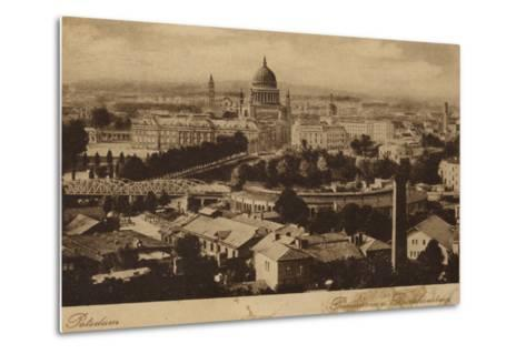 Postcard Depicting a General View of the City of Potsdam--Metal Print