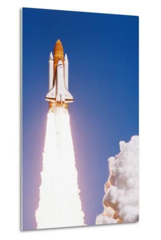 Challenger Space Shuttle Lifting Off--Metal Print