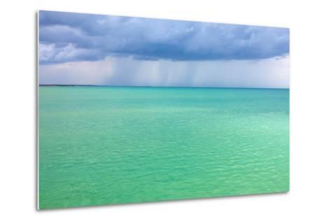 Storm Clouds over the Turquoise Sea- qiiip-Metal Print