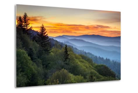 Great Smoky Mountains National Park Scenic Sunrise Landscape at Oconaluftee-daveallenphoto-Metal Print