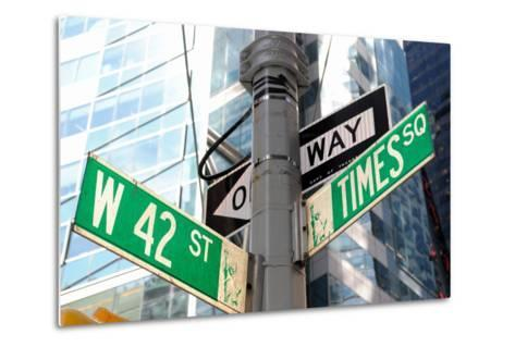 The Intersection of 42Nd Street and times Square in New York City.-SeanPavonePhoto-Metal Print
