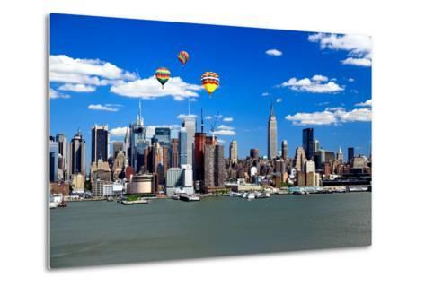 The Mid-Town Manhattan Skyline on A Sunny Day-Gary718-Metal Print